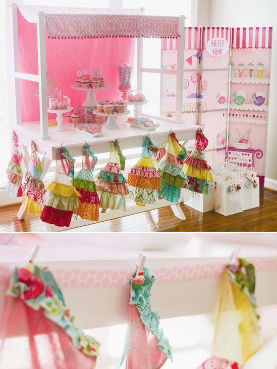 cupcake-theme shop party