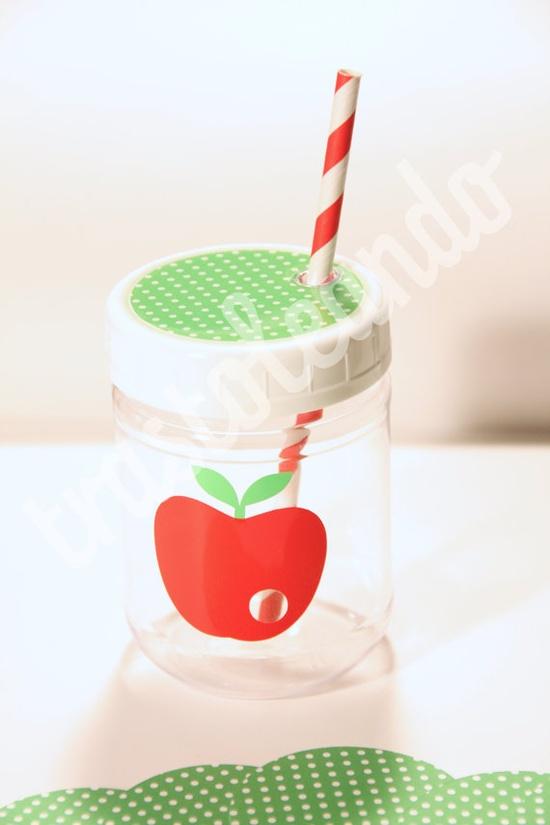 Very HUNGRY CATERPILLAR New SMALL Plastic Jar - Caterpillar Birthday - Caterpillar Party - Hungry Caterpillar