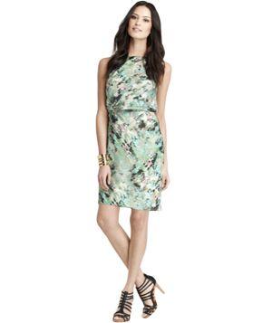 Party Dress: Ann Taylor Serene Floral Print Sheath Dress