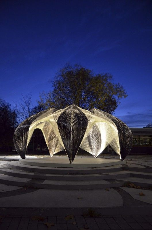 Research Pavilion, Stuttgart, Germany by University of Stuttgart, Faculty of Architecture and Urban Planning