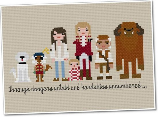 Pixel People - Labyrinth - PDF Cross Stitch PATTERN. $6.00, via Etsy.