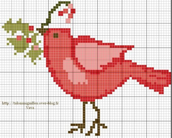 Christmas Red Bird Freebie
