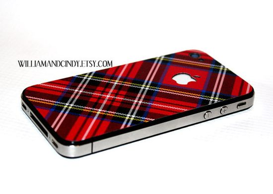 plaid iphone cover