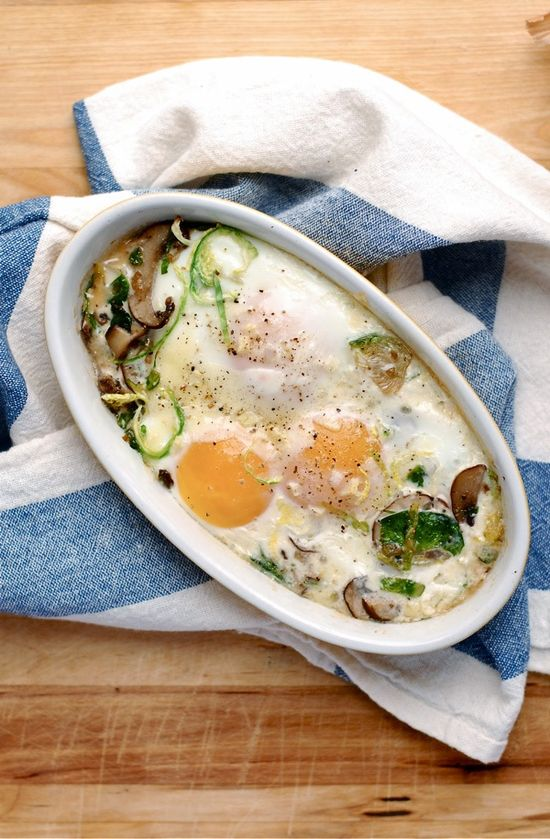 Baked Eggs with Brussel Sprouts