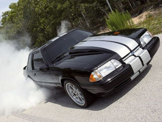 1992 Ford Mustang Burnout