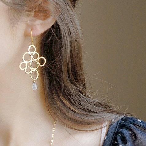 Organic bubbles earrings by joojooland on Etsy, $39.00