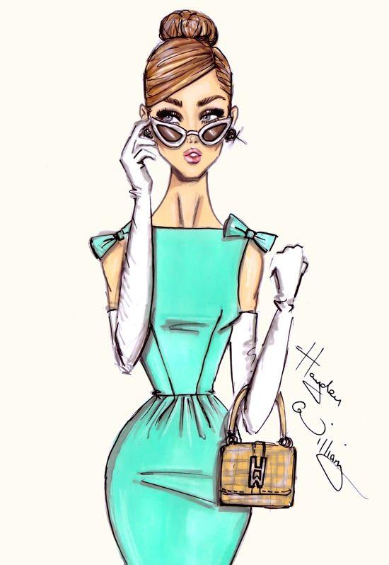 #Hayden Williams Fashion Illustrations #'A Very Stylish Girl' by Hayden Williams
