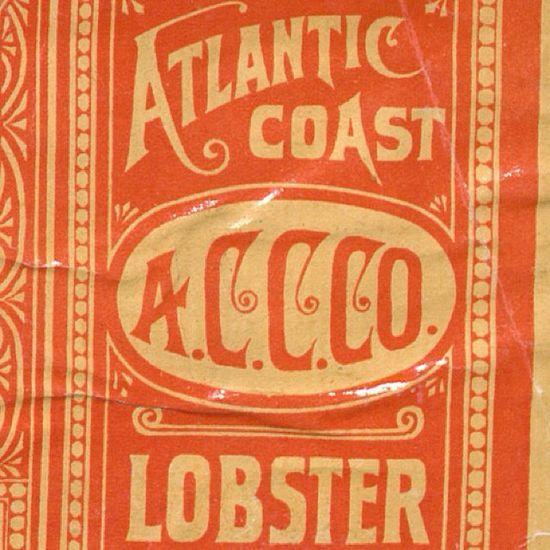 Lobster Label 2.  #typehunter  #typeresearch #vintagelabel