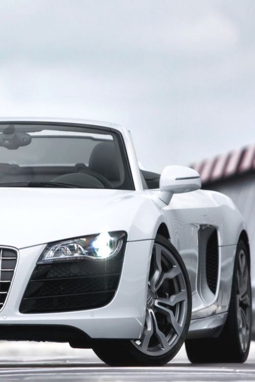 Audi R8 -- gotta have it in anything but white (If I ever own a white car I'll throw a bucket of paint just to make it go away)
