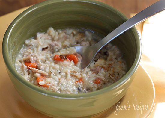 Chicken shitake and Wild Rice Soup