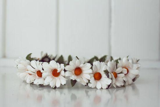 Handmade Paper Flower Crown - Daisies!