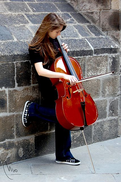 ? street music...especially a young girl, so adorable.