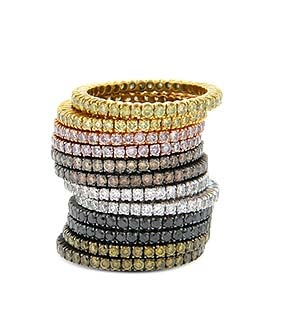 so into stackable colored diamond rings for wedding bands!