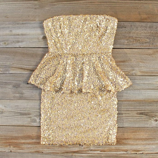 Sparkly Peplum Party Dress