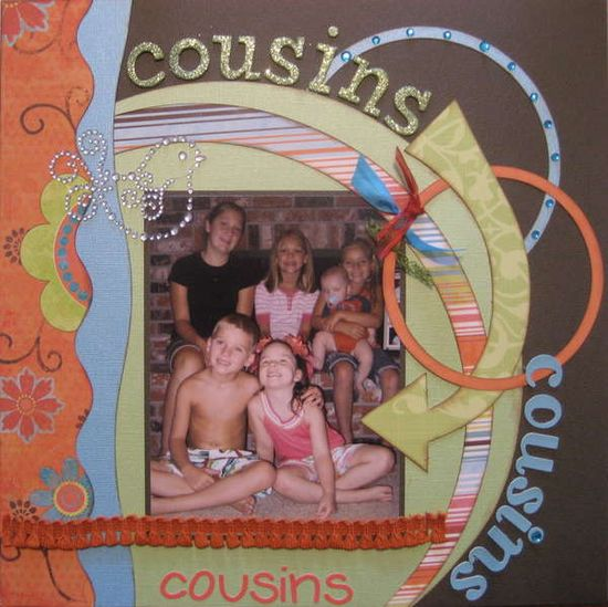 Cousins #scrapbook #layout
