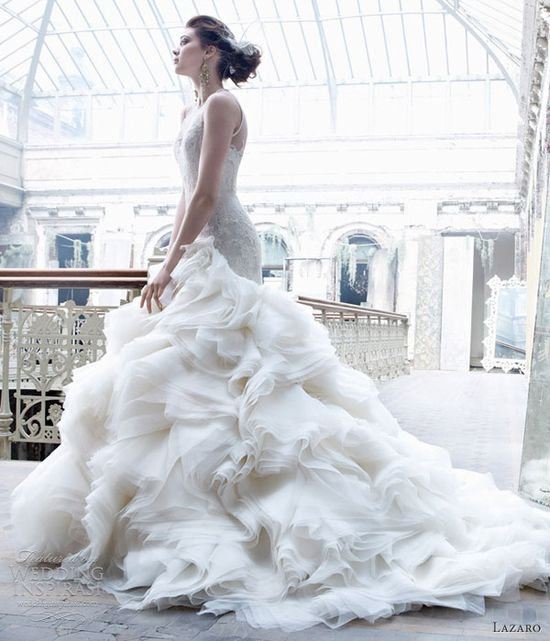 lazaro wedding dresses fall 2012 organza ball gown