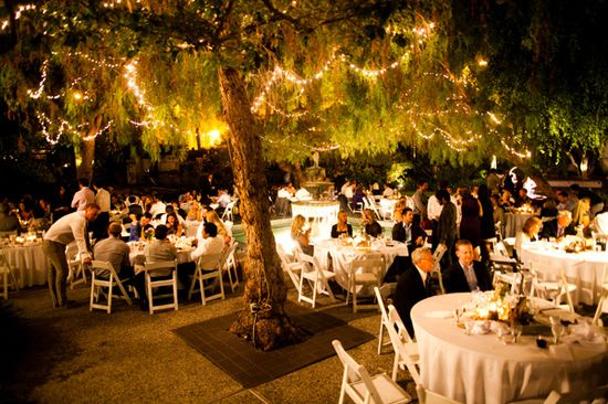 a beautiful outdoor reception