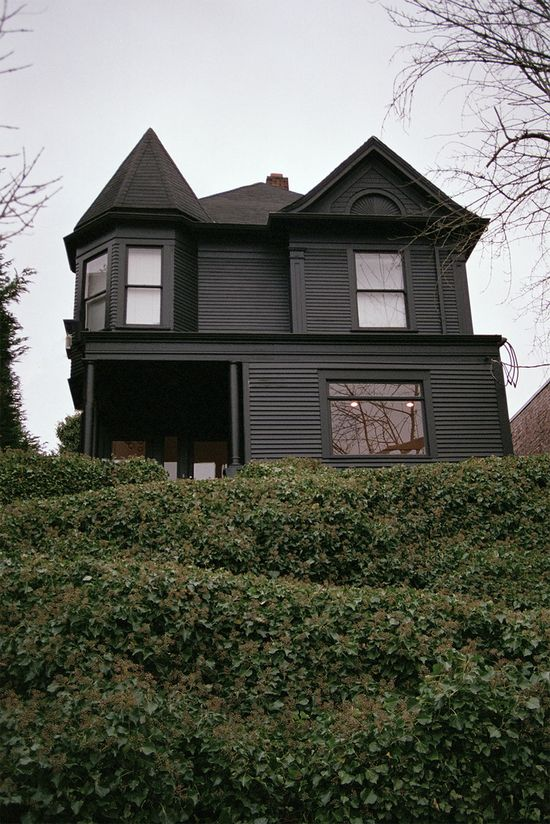 Black house exterior photo