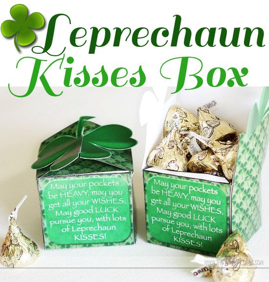 A FREE Printable Box for St. Patrick's Day gift giving. www.TheDatingDiva... #free #printable #stpatricksday