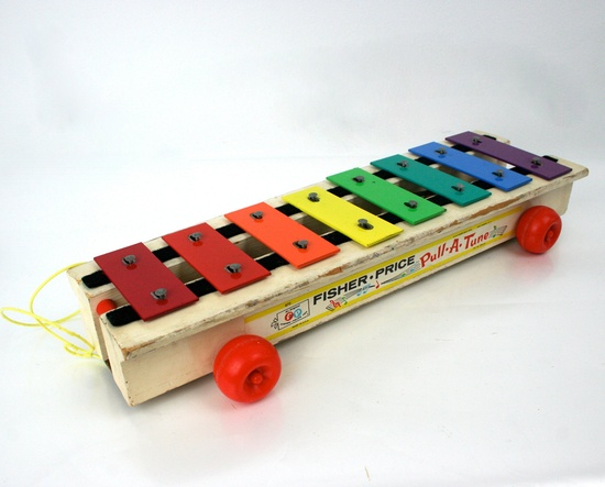 Vintage Fisher Price Pull A Tune Xylophone