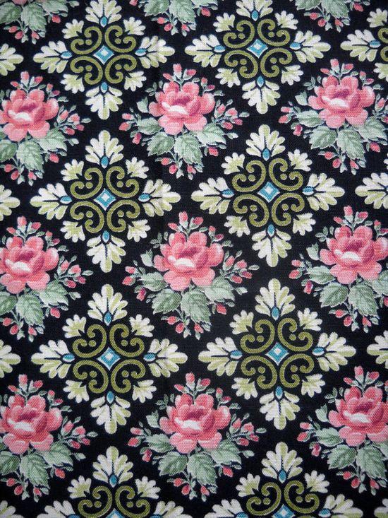 Vintage Fabric, Floral Design.