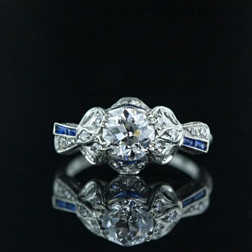 Edwardian 1.02 Carat Diamond Engagement Ring