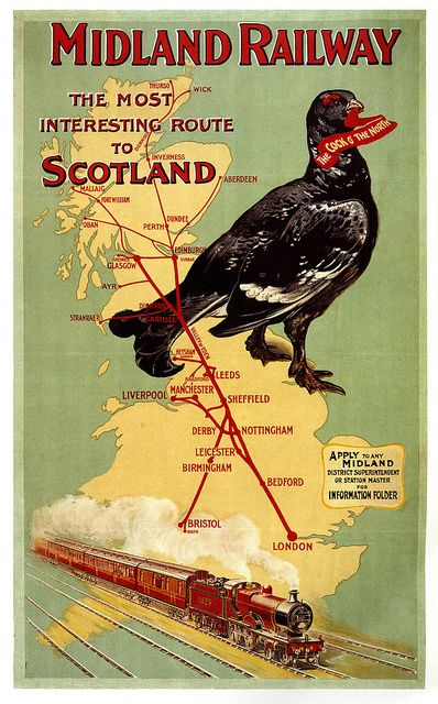 See the most interesting route in Scotland. #vintage #Edwardian #travel #ads