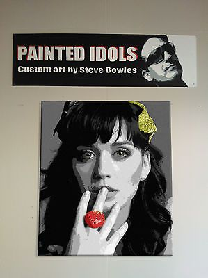 Katy Perry hand painted acrylic on canvas painting art by artist Steve Bowles