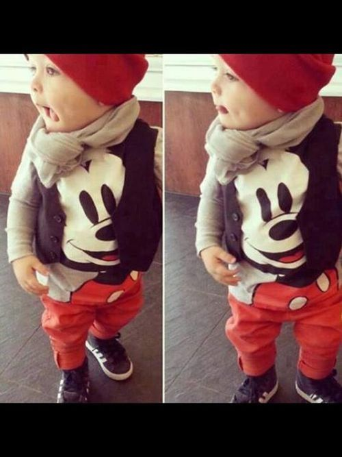Disney Mickey Mouse baby outfit....i would totally put my baby in this