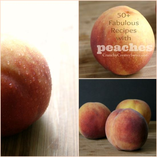 50+ Recipes with Peaches! Recipe Round-up on CrunchyCreamySwee...