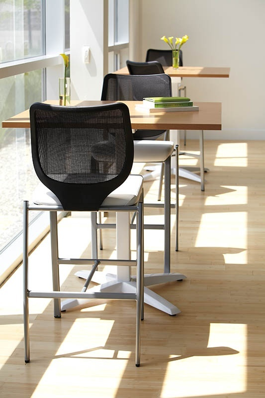 HON Nucleus. #Breakroom #Lounge #Chill #Cafe #Spring #Office #Design #Black #Chair