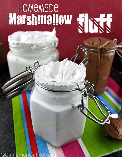 Homemade Marshmallow Fluff - regular and chocolate