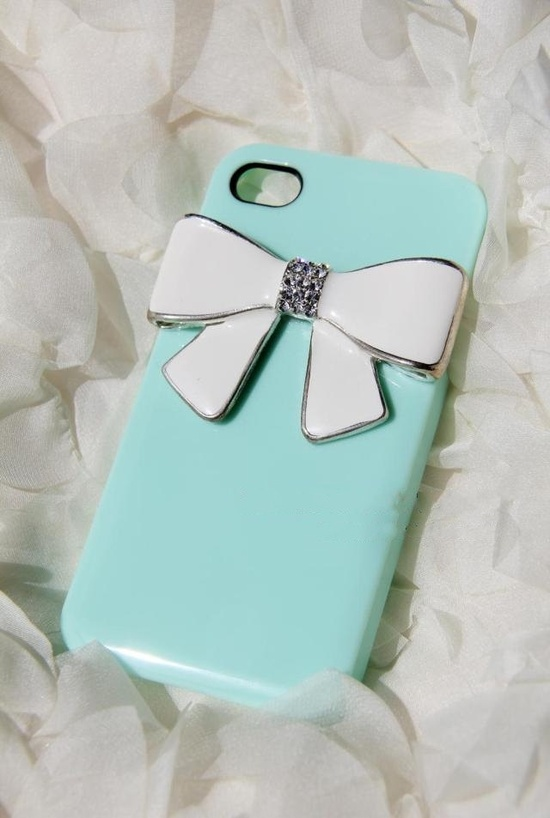 Tiffany blue bow iPhone case