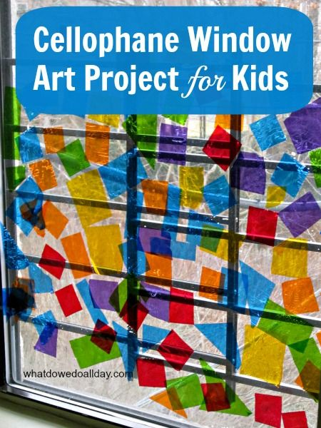 Kids' Stained Glass Window Art Project
