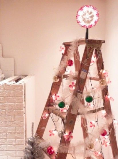 Decorate for the holidays - think outside the Christmas Tree box : )