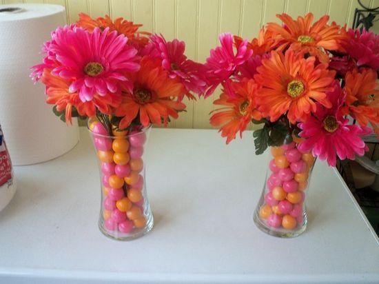 Gumball Flower Arrangements #gumball #floral