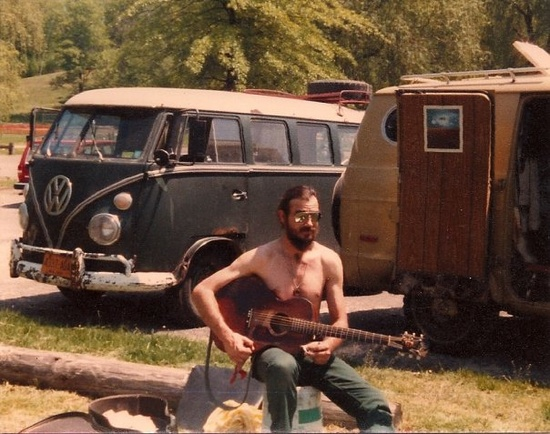 A VW bus and a guitar by Portable Graffiti, via Flickr