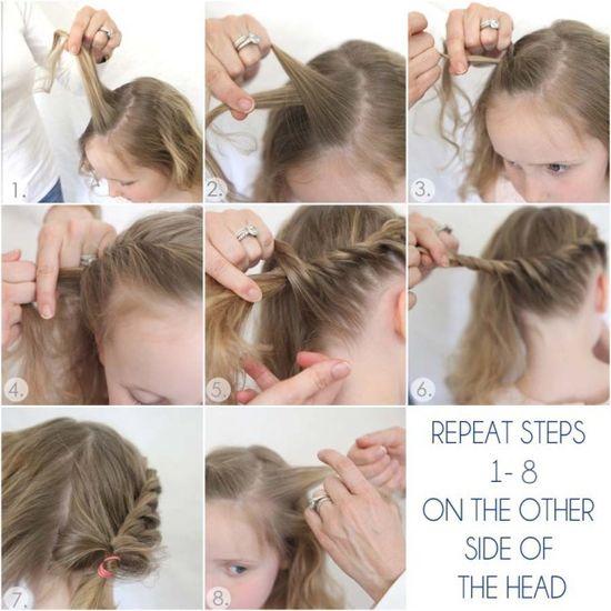 little girl hair tutorial for twisted bun