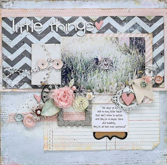 #papercraft #Scrapbook #layout   Little Things. . .