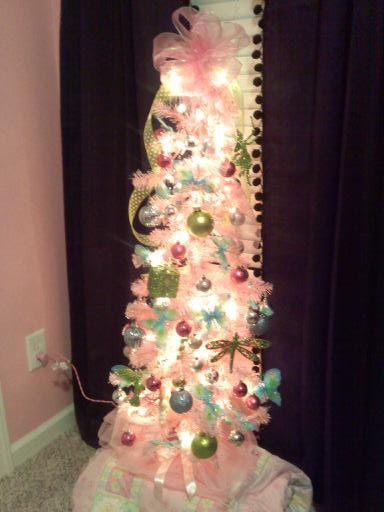 Girls Pink Christmas Tree