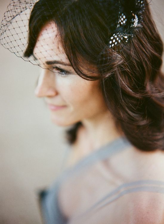 black birdcage veil // photo by Q Weddings // ruffledblog.com/...