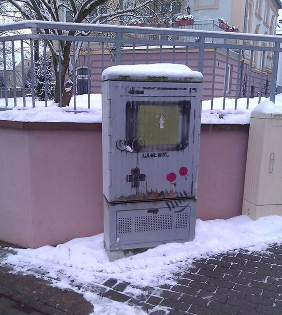 Street art Street Art Game Boy
