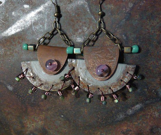 Castaway Earrings by fuzzerbee on Etsy, $45.00
