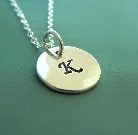 Initial Necklace - Sterling Silver by esdesigns on Etsy