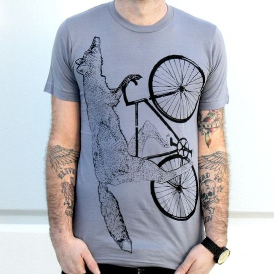 fox on a bike by DARKCYCLECLOTHING $18