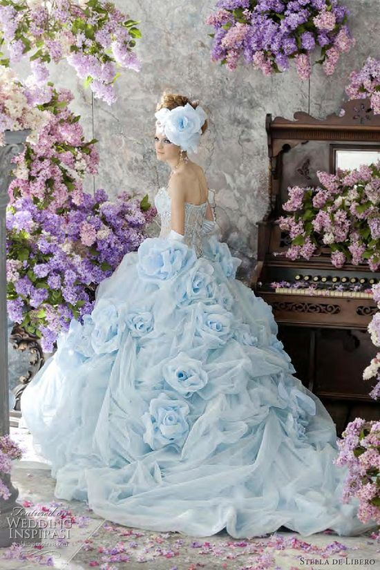 blue wedding dresses 2012