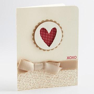 Heart Cutout Card #valentine #romance