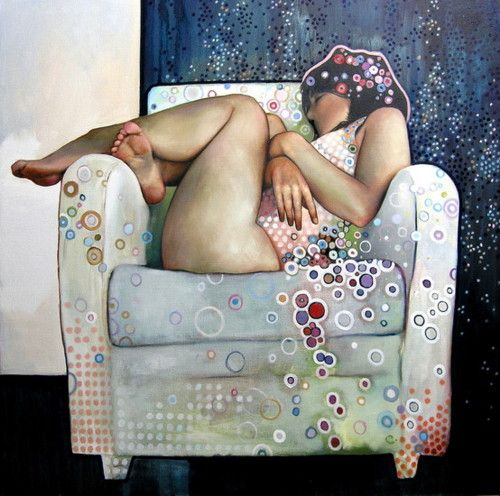 "Painting by Caroline Westerhout ""Jalozie"""