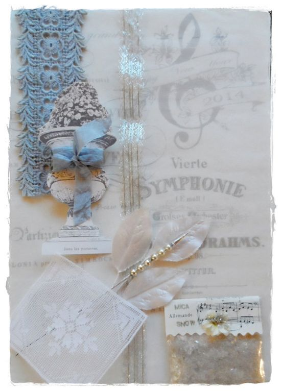 Inspiration Gift Wrap Kit~ Iced Blues