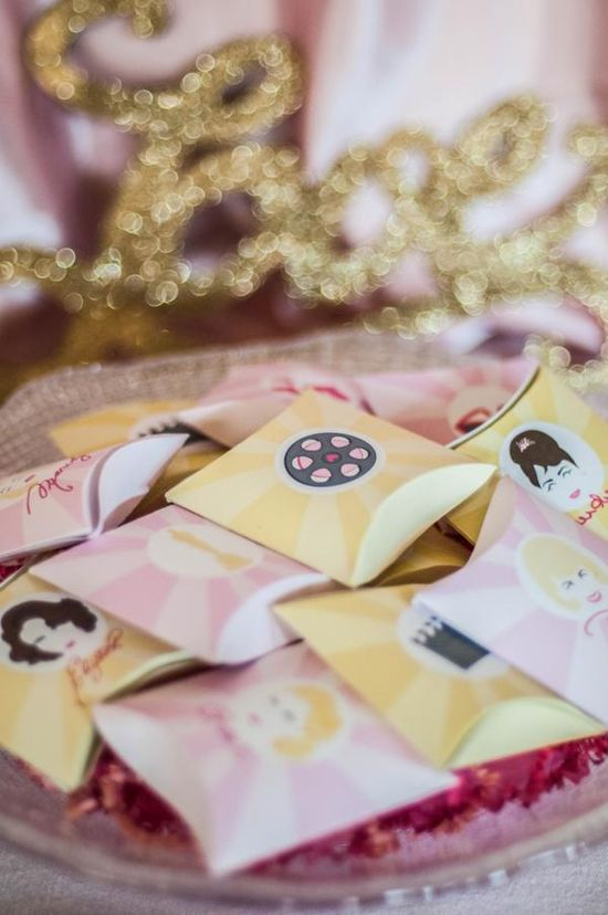 Chick Flick Girls Night party with tons of cute, fun & EASY ideas! Via Kara's Party Ideas